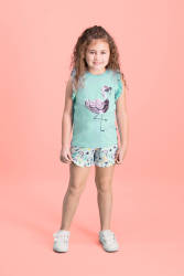 RolyPoly - RolyPoly Payet Pelican Mint Yeşili Kız Çocuk Şort Takım