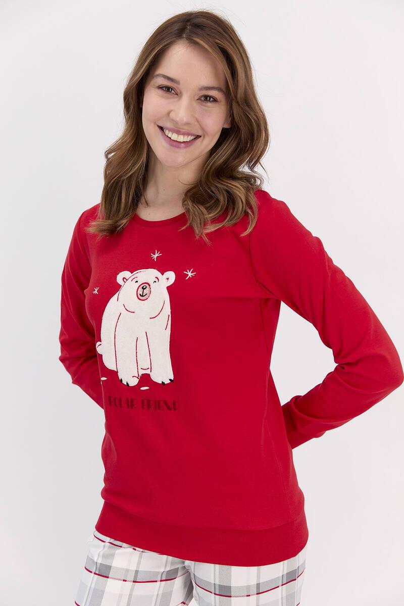 RolyPoly - RolyPoly Polar Friend Kadın Kız Çocuk Pijama Takımı (1)