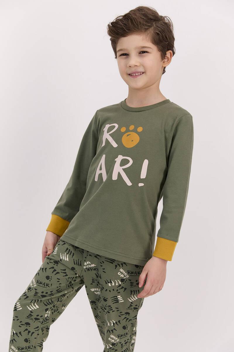 RolyPoly - RolyPoly Roar Haki Erkek Çocuk Pijama Takımı (1)