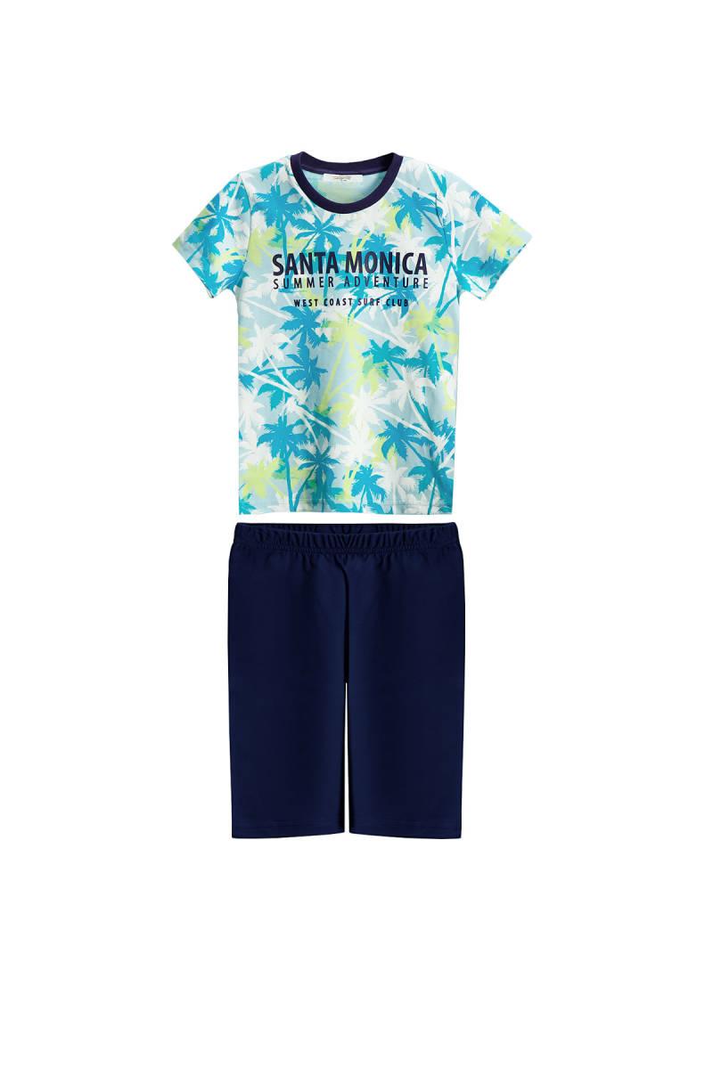 RolyPoly - RolyPoly Santa Monica Mint Erkek Çocuk Bermuda Takım
