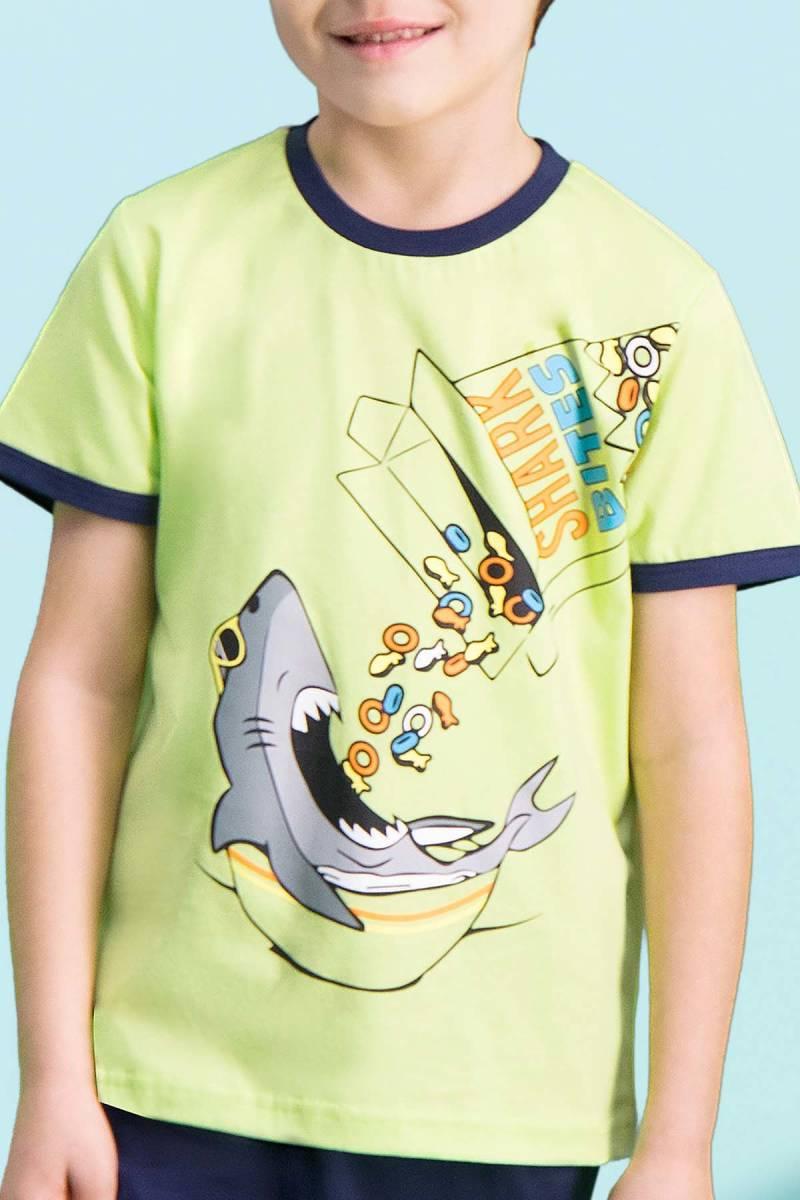 RolyPoly - RolyPoly Shark Bites Fıstık Yeşili Erkek Çocuk Bermuda Takım (1)