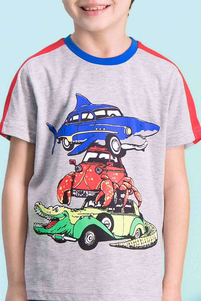 RolyPoly - RolyPoly Shark Car Grimelanj Erkek Çocuk Kapri Takım (1)