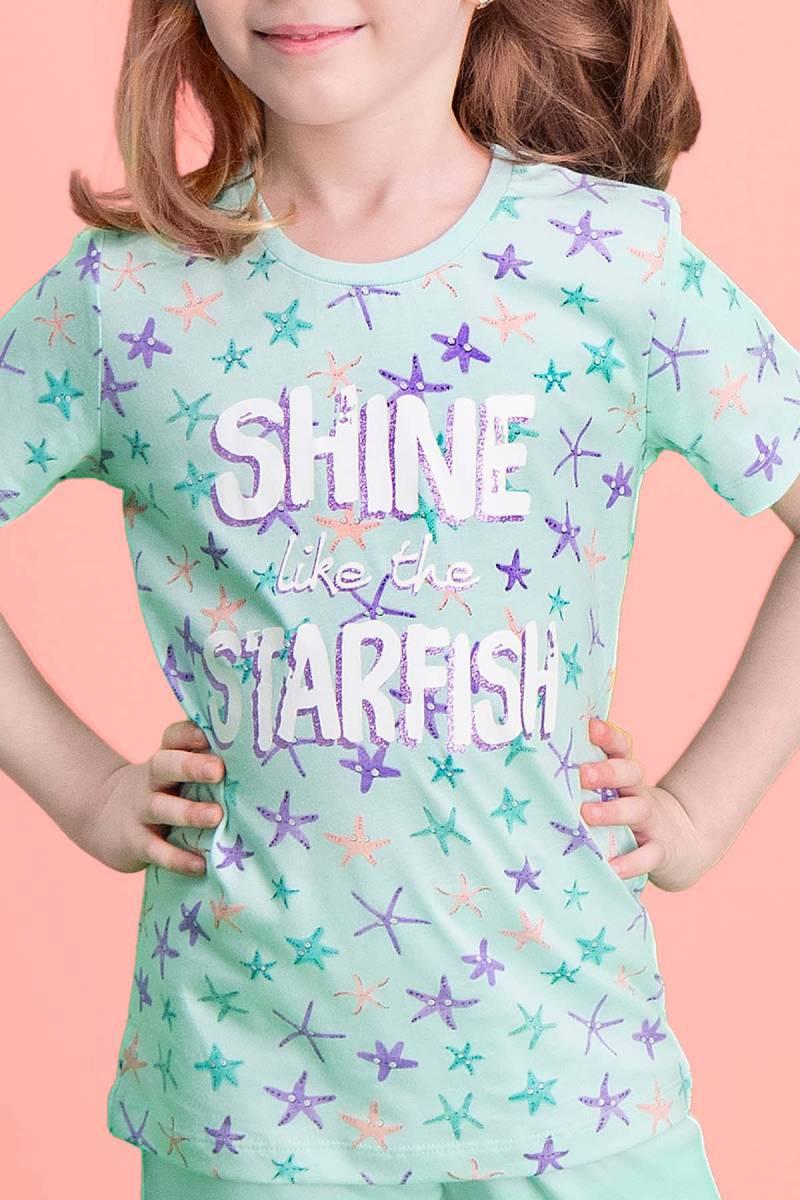 RolyPoly - RolyPoly Shine Starfish Açık Yeşil Kız Çocuk Kapri Takım (1)
