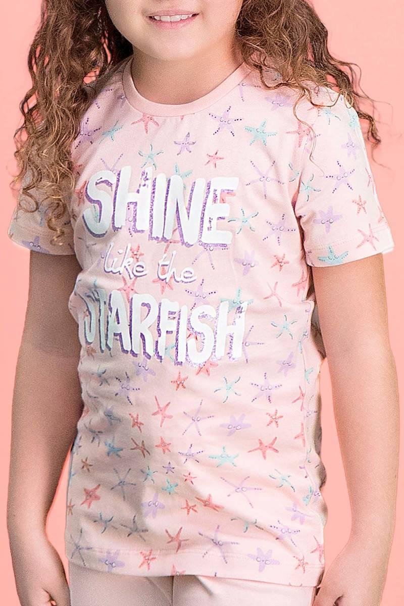 RolyPoly - RolyPoly Shine Starfish Pembe Kız Çocuk Kapri Takım (1)