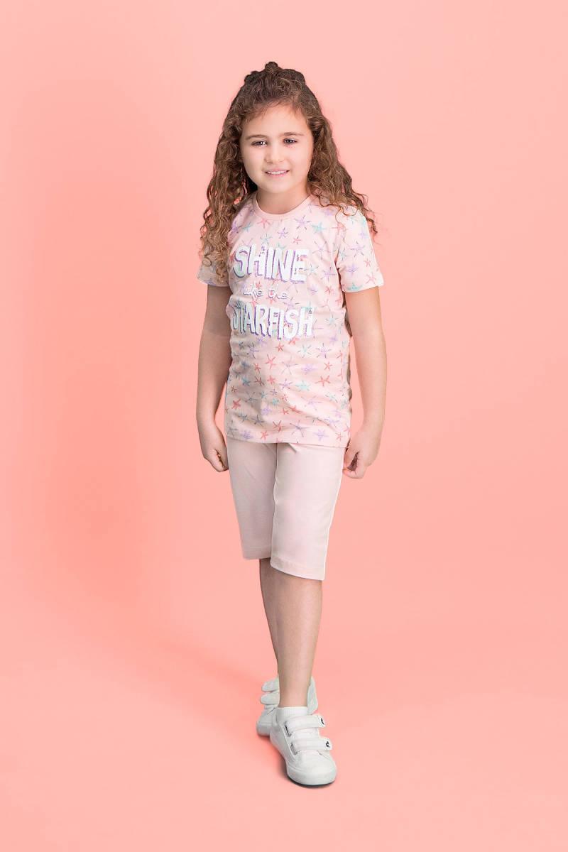 RolyPoly - RolyPoly Shine Starfish Pembe Kız Çocuk Kapri Takım