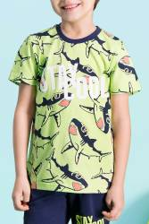 RolyPoly Stay Cool Yeşil Erkek Çocuk Pijama Takımı - Thumbnail