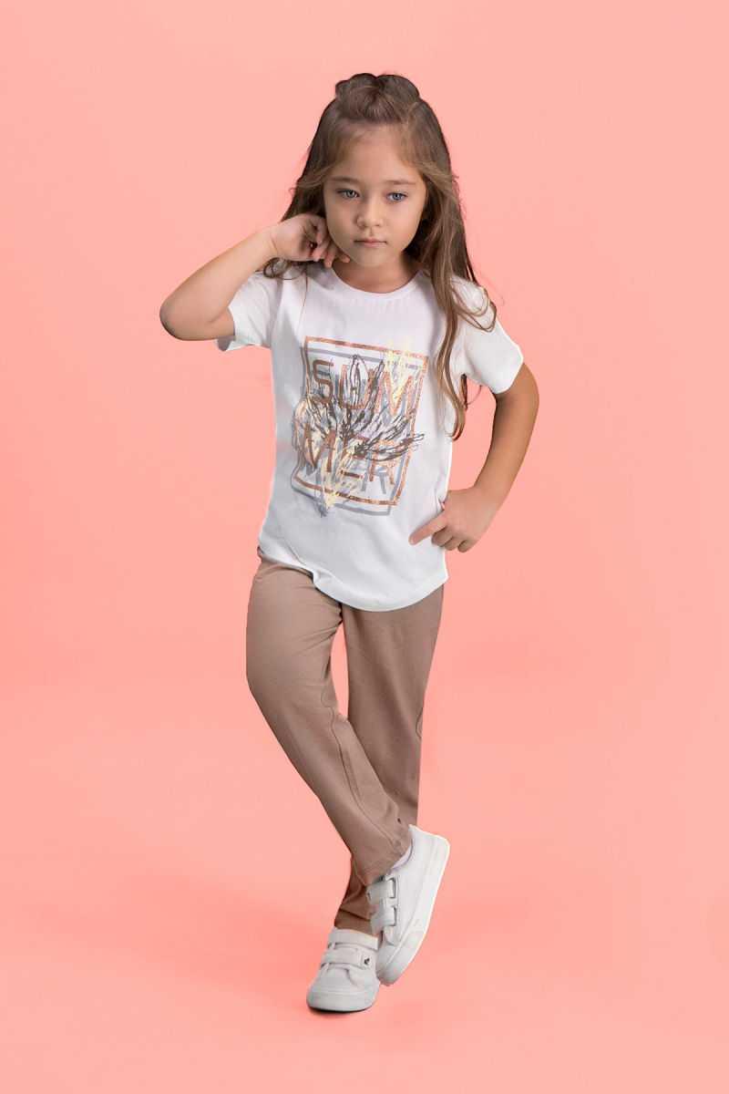 RolyPoly Sum Mer Krem Kız Çocuk Pijama Takımı