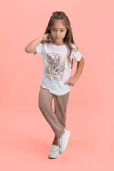 RolyPoly Sum Mer Krem Kız Çocuk Pijama Takımı - Thumbnail