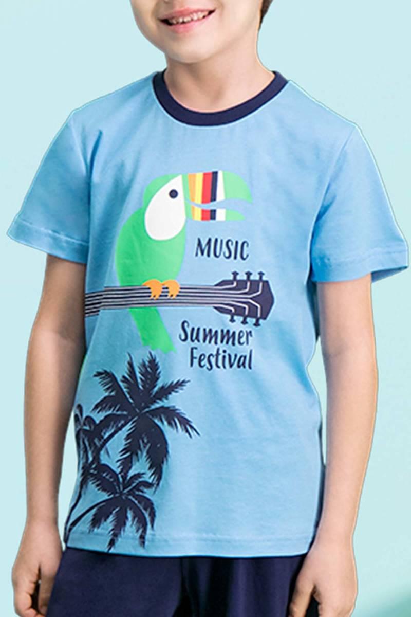 RolyPoly - RolyPoly Summer Festival Mavi Erkek Çocuk Bermuda Takım (1)