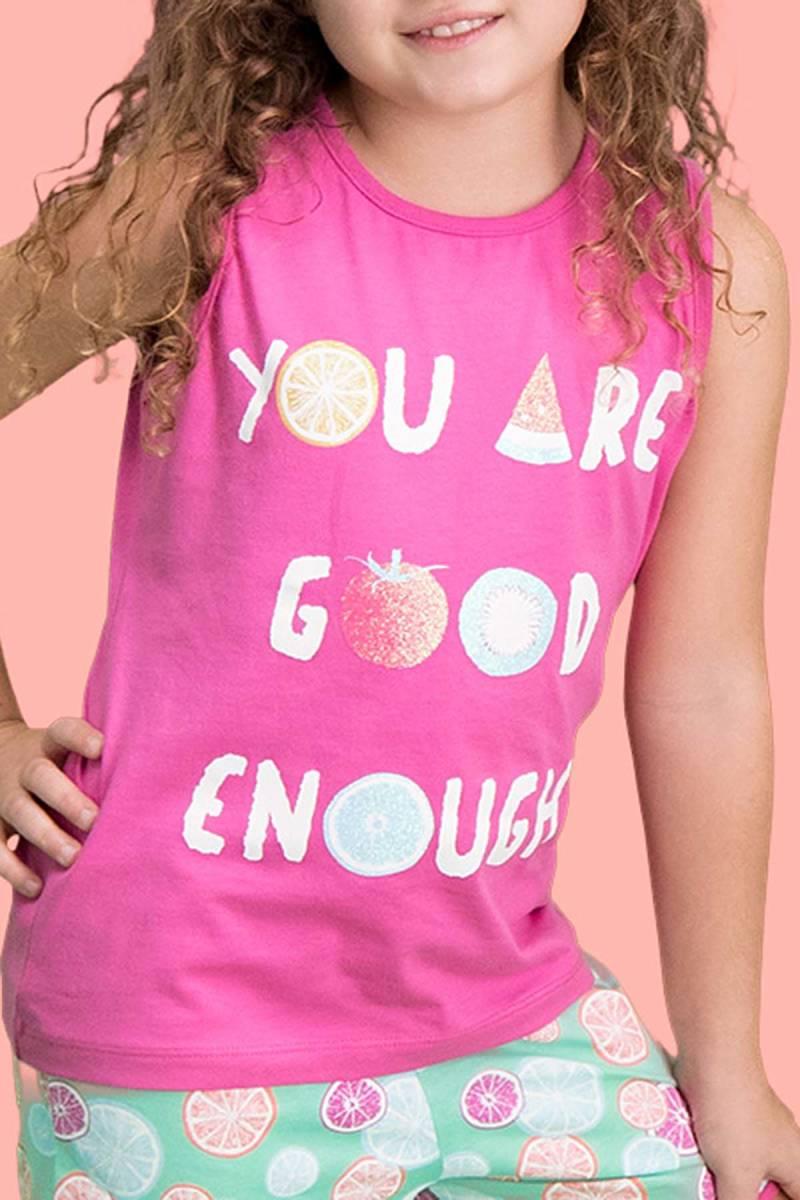 RolyPoly - RolyPoly Summer Fruits Fuşya Kız Çocuk Şort Takım (1)