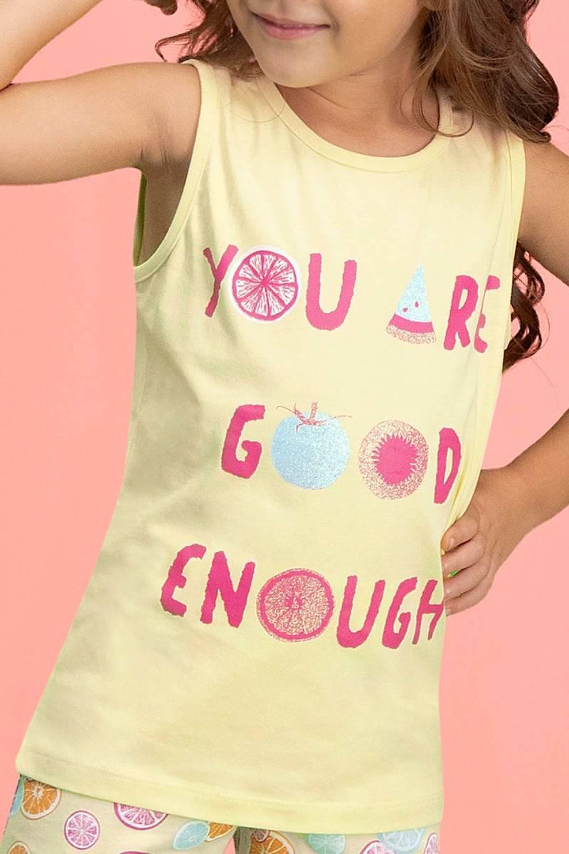 RolyPoly - RolyPoly Summer Fruits Limon Sarı Kız Çocuk Şort Takım (1)