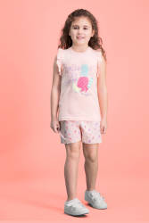 RolyPoly - RolyPoly Summer Smile İnci Pembe Kız Çocuk Şort Takım