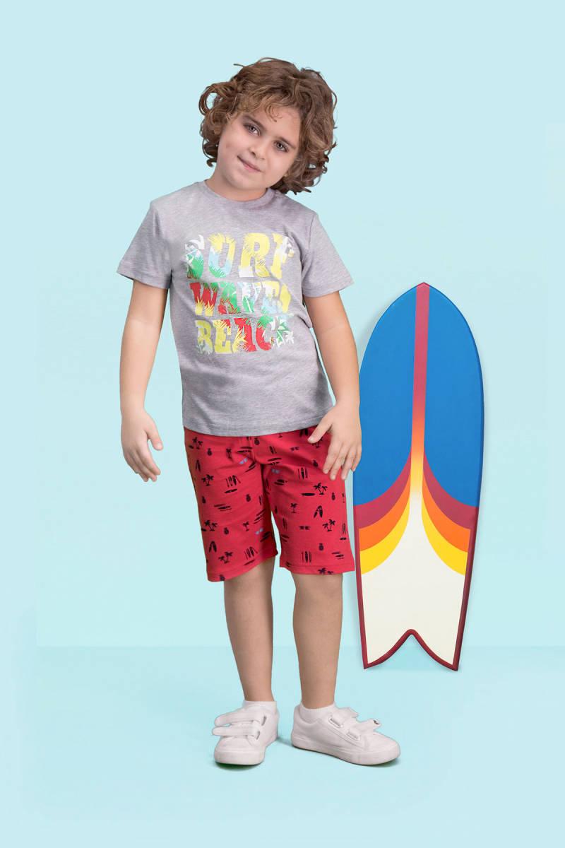 RolyPoly - RolyPoly Surf Beach Grimelanj Erkek Çocuk Bermuda Takım