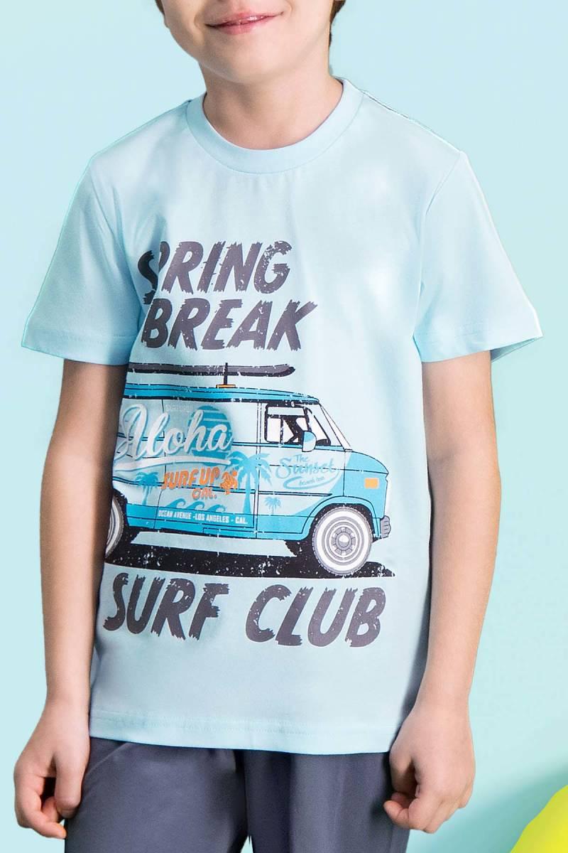 RolyPoly - RolyPoly Surf Club Açık Mavi Erkek Çocuk Bermuda Takım (1)
