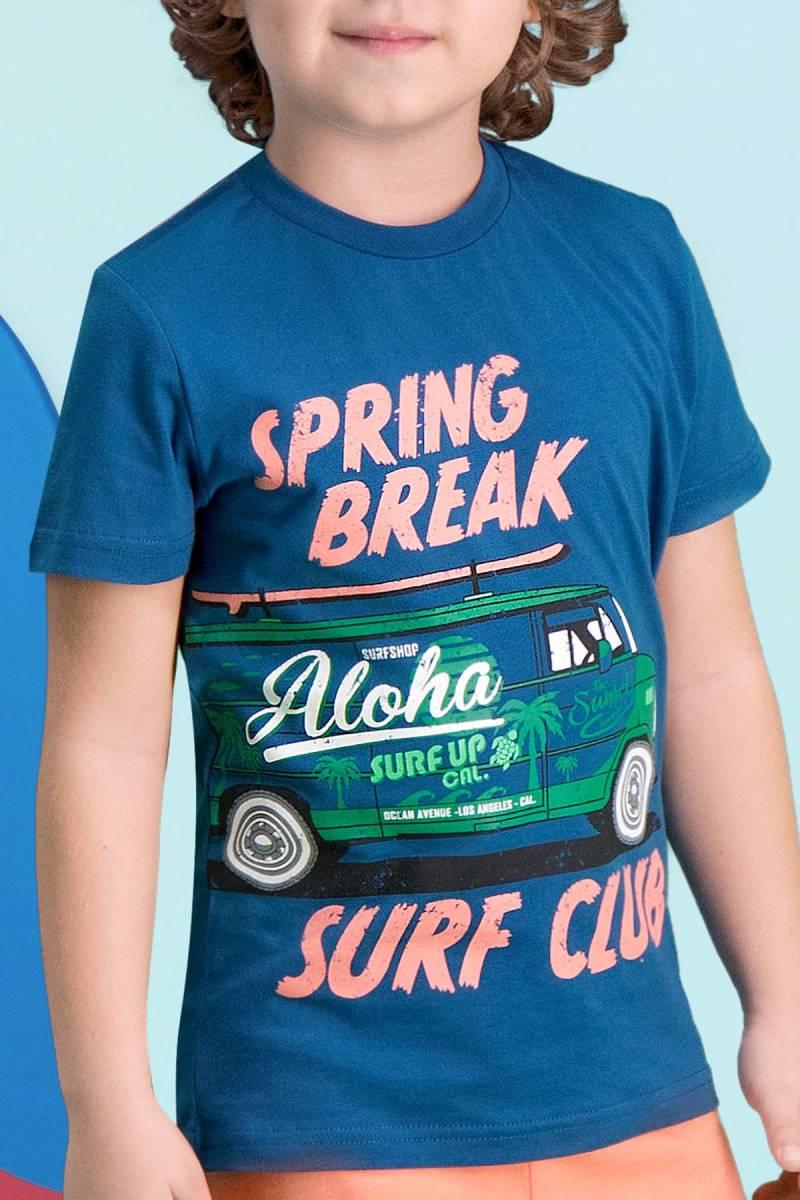 RolyPoly - RolyPoly Surf Club Gece Mavisi Erkek Çocuk Bermuda Takım (1)