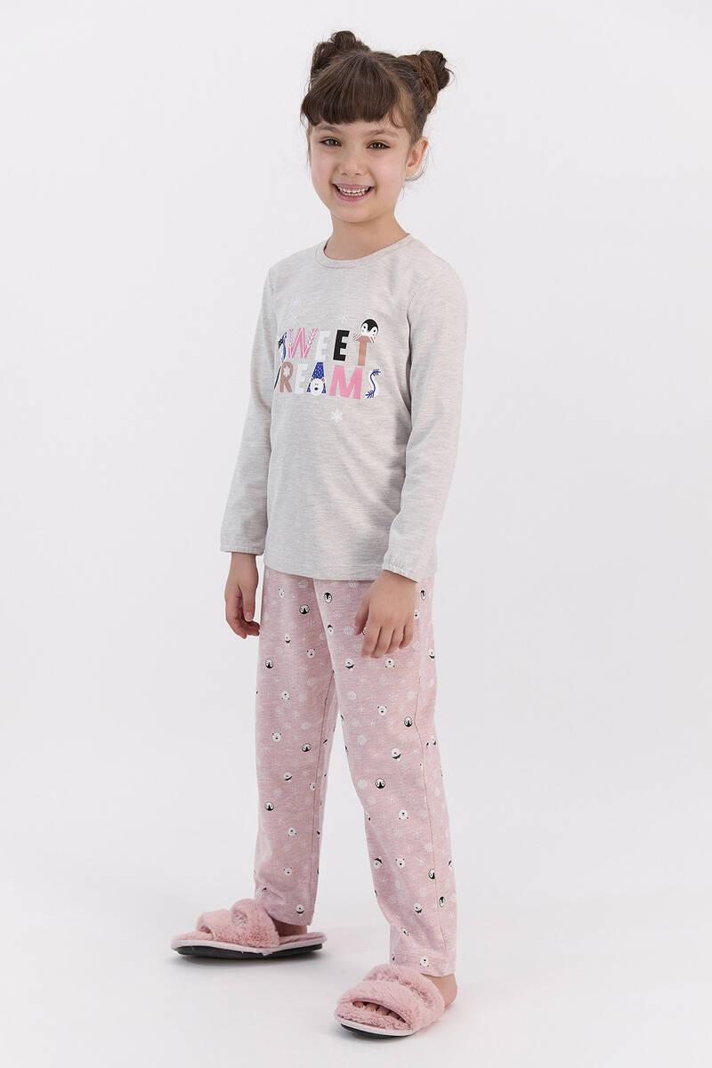 RolyPoly - RolyPoly Sweat Dreams Bejmelanj Kız Çocuk Pijama Takımı