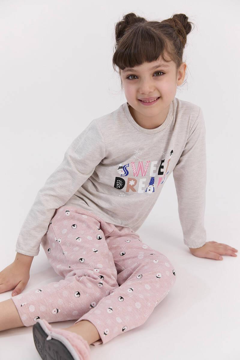 RolyPoly - RolyPoly Sweat Dreams Bejmelanj Kız Çocuk Pijama Takımı (1)