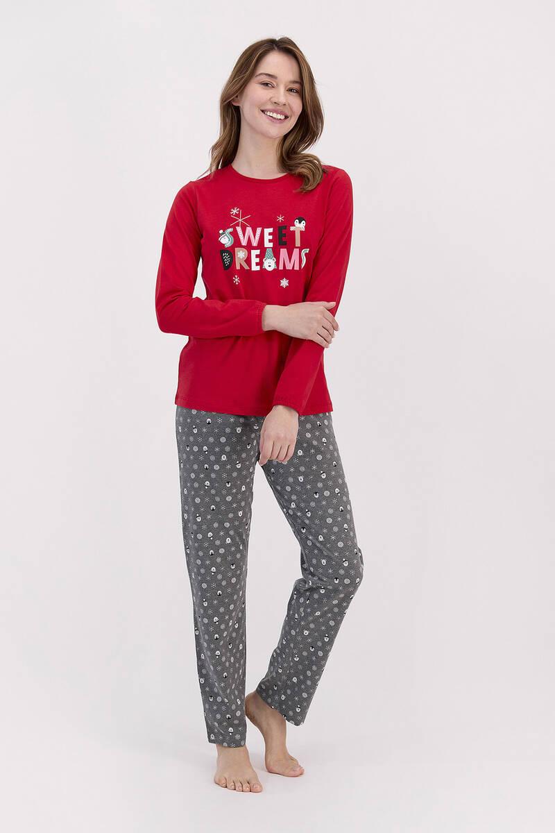 RolyPoly - RolyPoly Sweat Dreams Kırmızı Kadın Pijama Takımı
