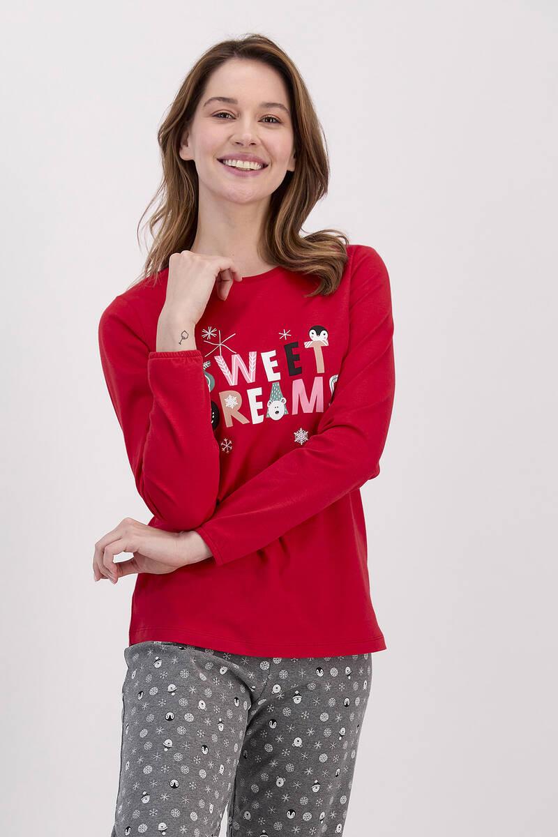 RolyPoly - RolyPoly Sweat Dreams Kırmızı Kadın Pijama Takımı (1)