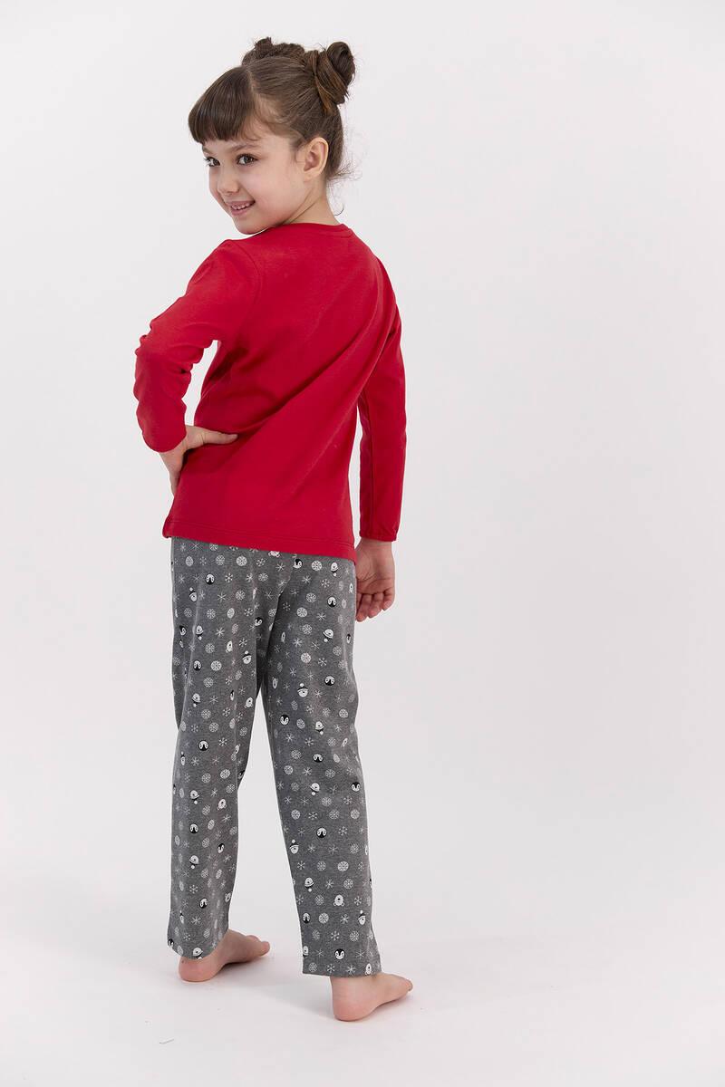 RolyPoly - RolyPoly Sweat Dreams Kırmızı Kız Çocuk Pijama Takımı (1)