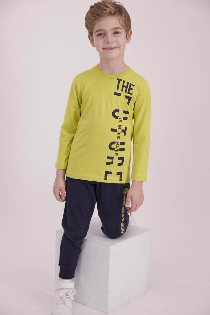RolyPoly - RolyPoly The Future Fıstık Yeşili Erkek Çocuk Pijama Takımı