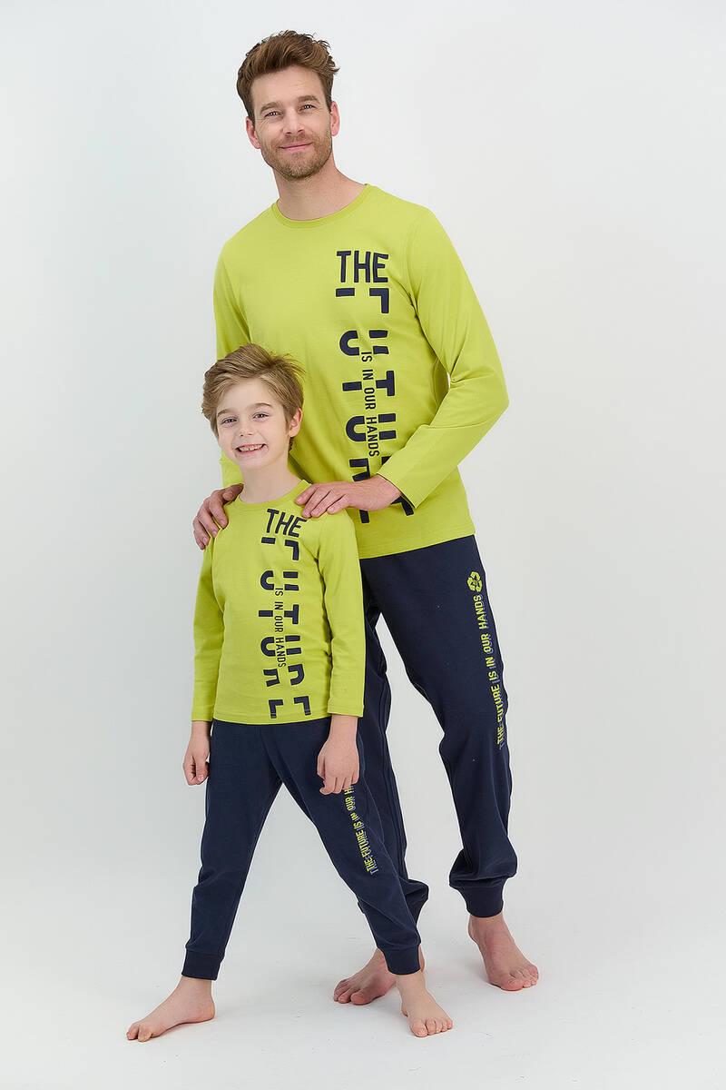 RolyPoly - RolyPoly The Future Fıstık Yeşili Erkek Çocuk Pijama Takımı (1)