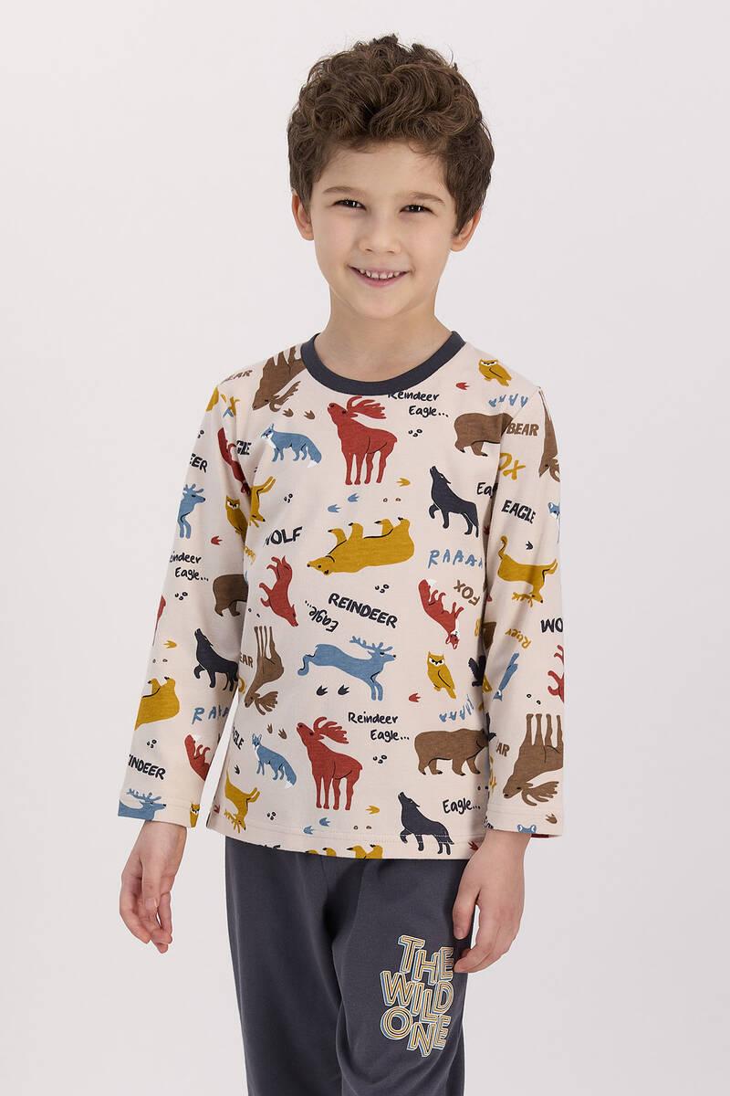 RolyPoly - RolyPoly The Wild One Kum Erkek Çocuk Pijama Takımı
