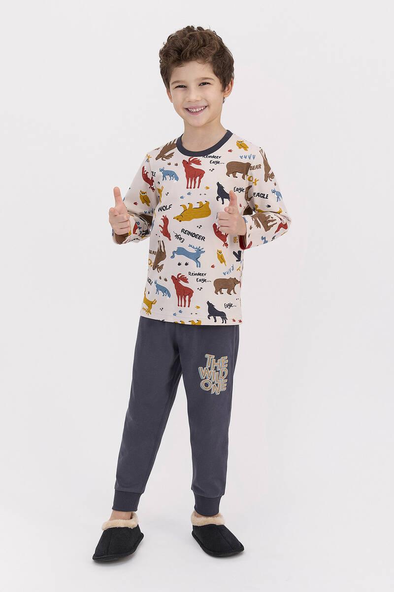 RolyPoly - RolyPoly The Wild One Kum Erkek Çocuk Pijama Takımı (1)