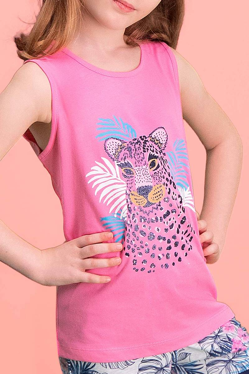RolyPoly - RolyPoly Tiger Safari Koyu Pembe Kız Çocuk Şort Takım (1)