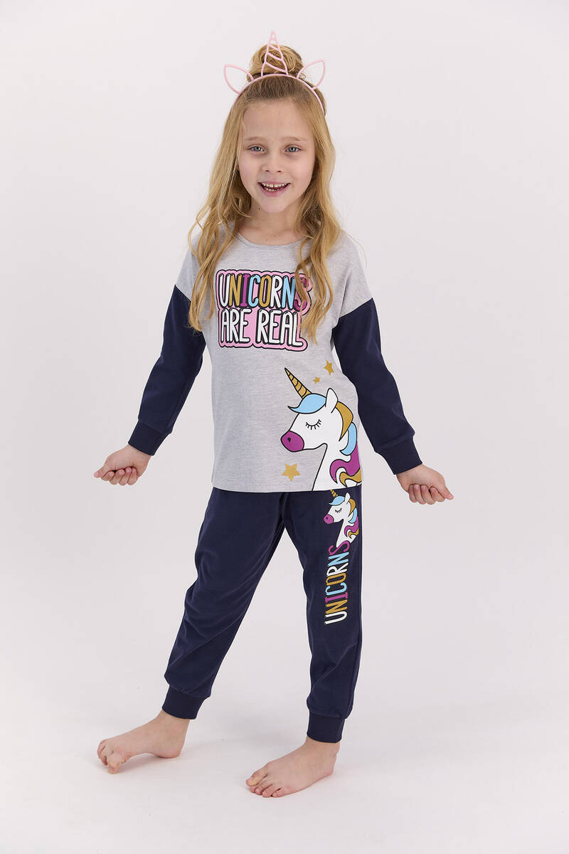RolyPoly - RolyPoly Unıcorns Are Real Grimelanj Kız Çocuk Pijama Takımı