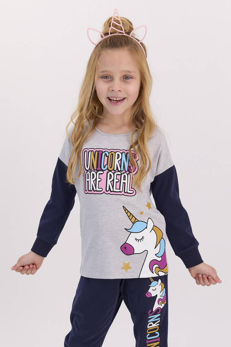 RolyPoly - RolyPoly Unıcorns Are Real Grimelanj Kız Çocuk Pijama Takımı (1)