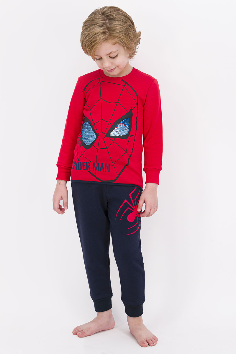 Spider Man - Spider Man Lisanslı Açık Kırmızı Erkek Çocuk Eşofman Takımı