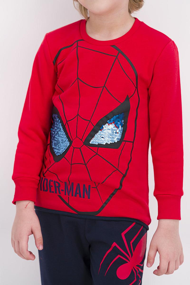 Spider Man - Spider Man Lisanslı Açık Kırmızı Erkek Çocuk Eşofman Takımı (1)