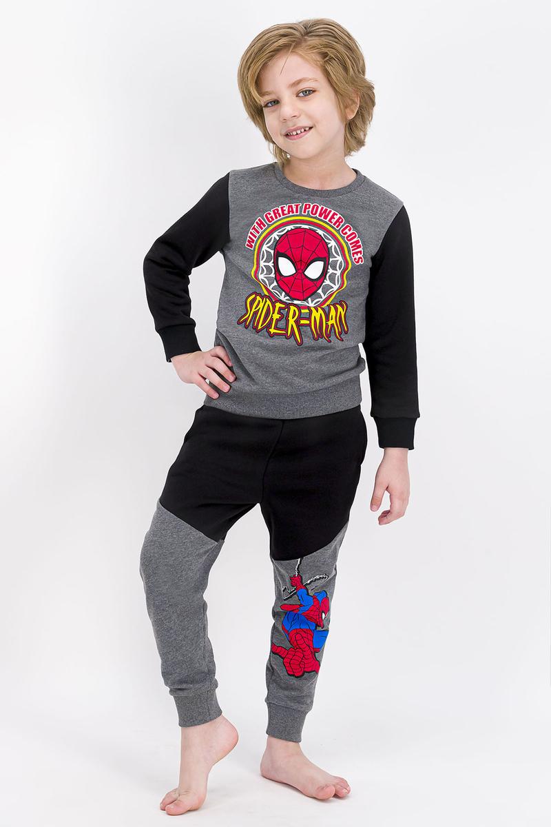 Spider Man - Spider Man Lisanslı Koyu Grimelanj Erkek Çocuk Eşofman Takımı