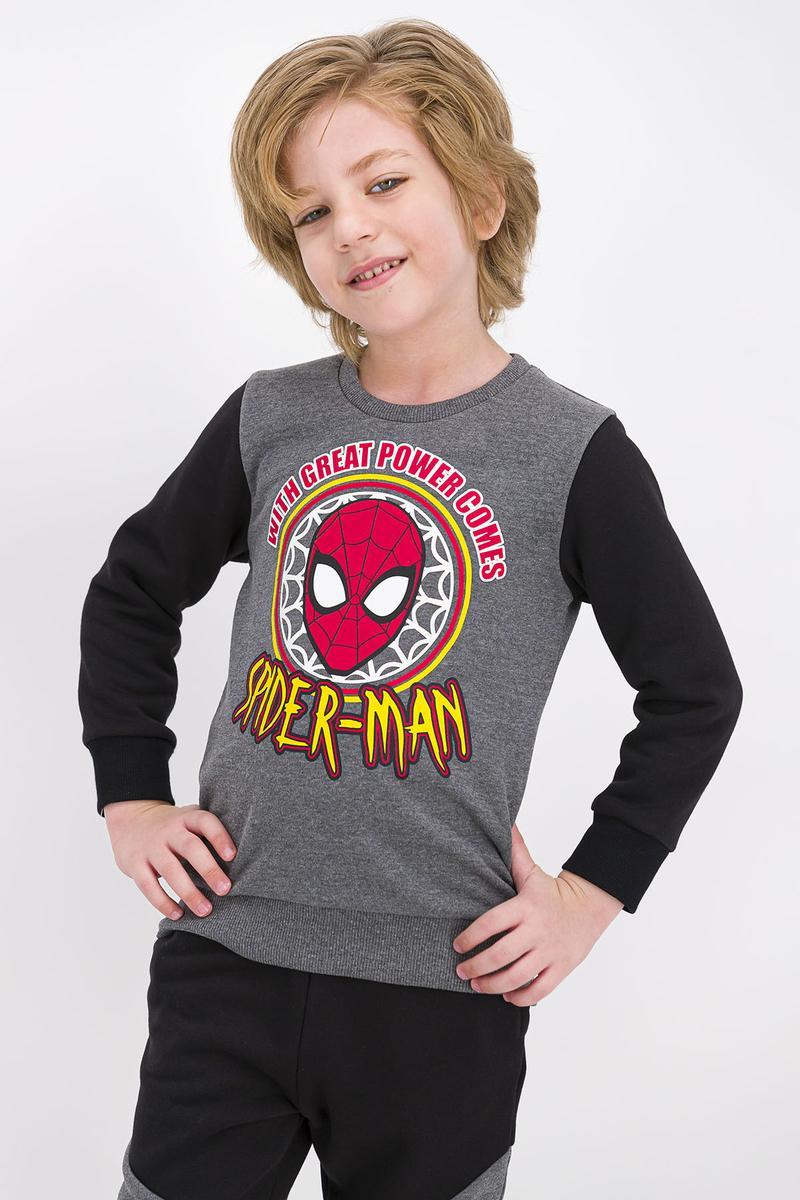Spider Man - Spider Man Lisanslı Koyu Grimelanj Erkek Çocuk Eşofman Takımı (1)