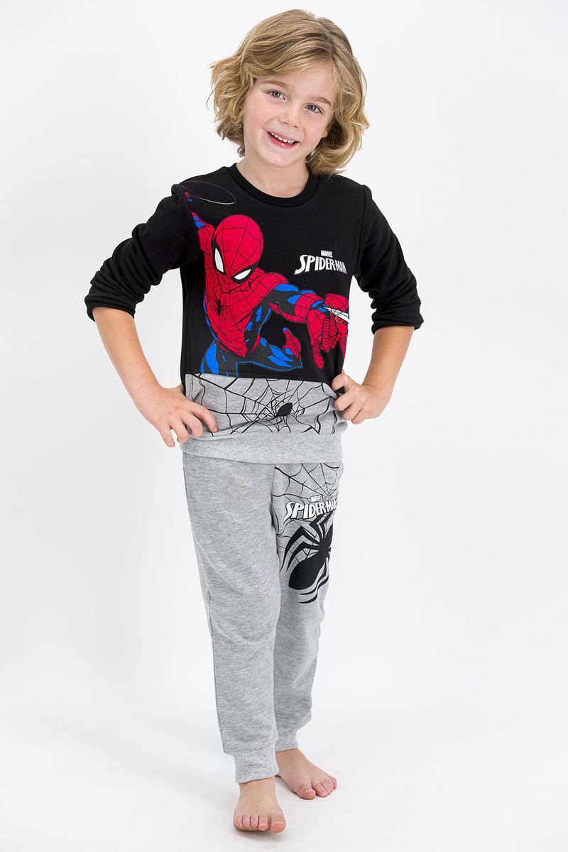 Spider Man - Spider Man Lisanslı Siyah Erkek Çocuk Eşofman Takımı