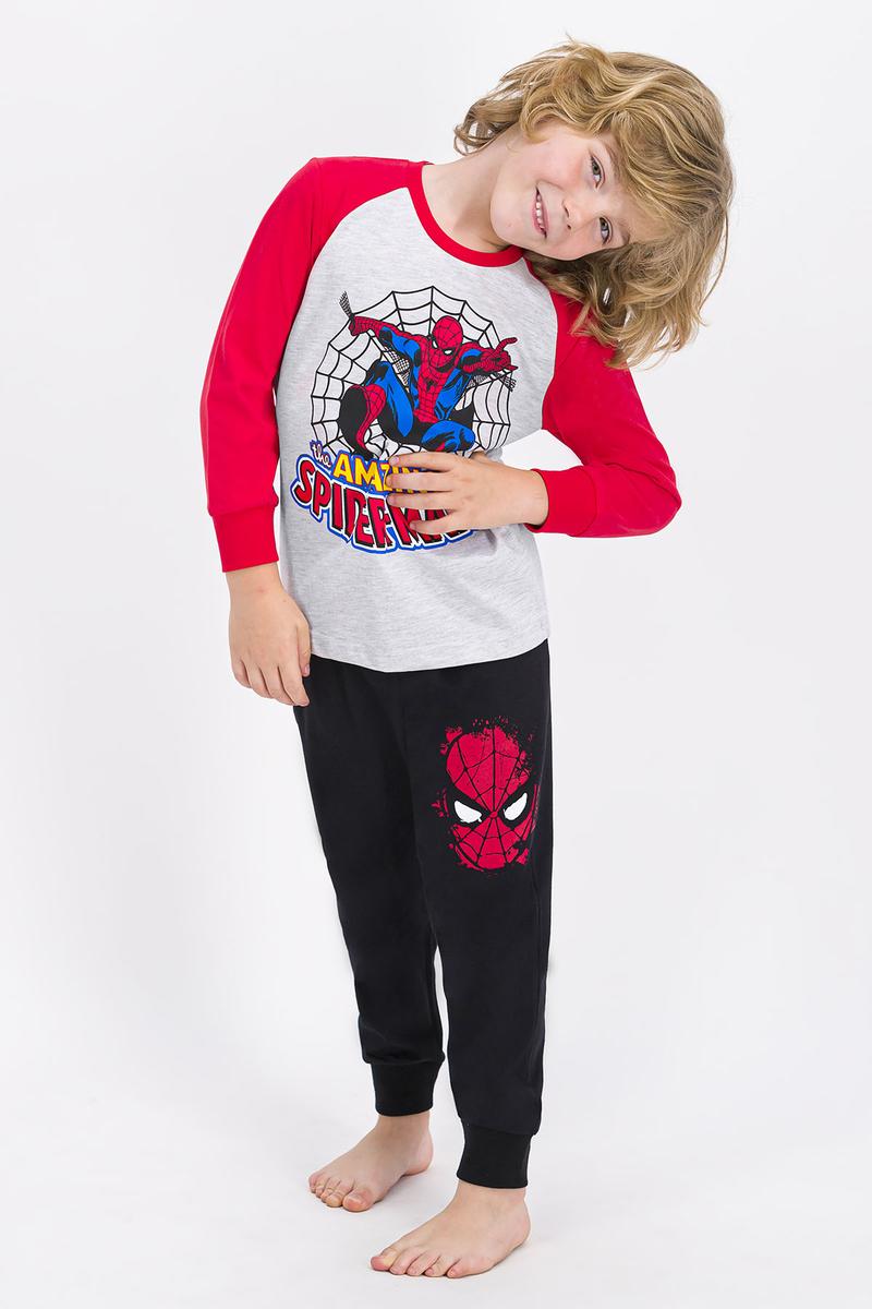 Spider Man - Spider Man Lisanslı Karmelanj Erkek Çocuk Pijama Takımı