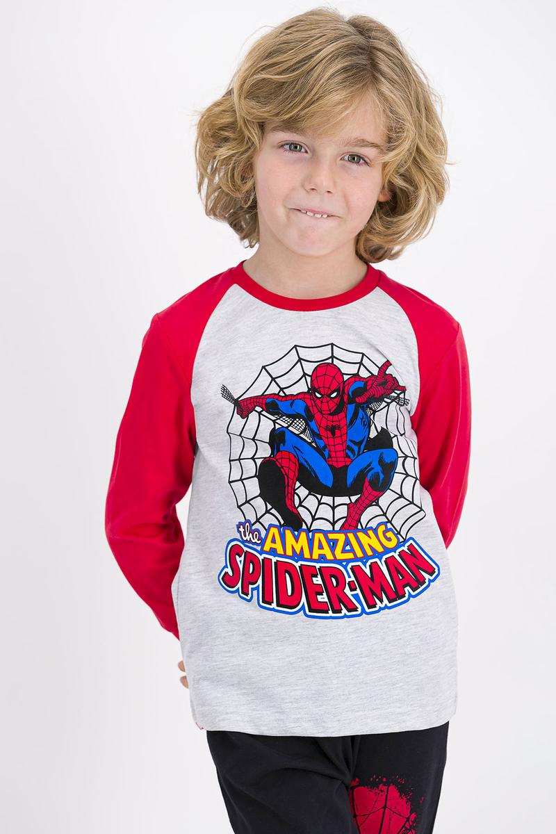 Spider Man - Spider Man Lisanslı Karmelanj Erkek Çocuk Pijama Takımı (1)