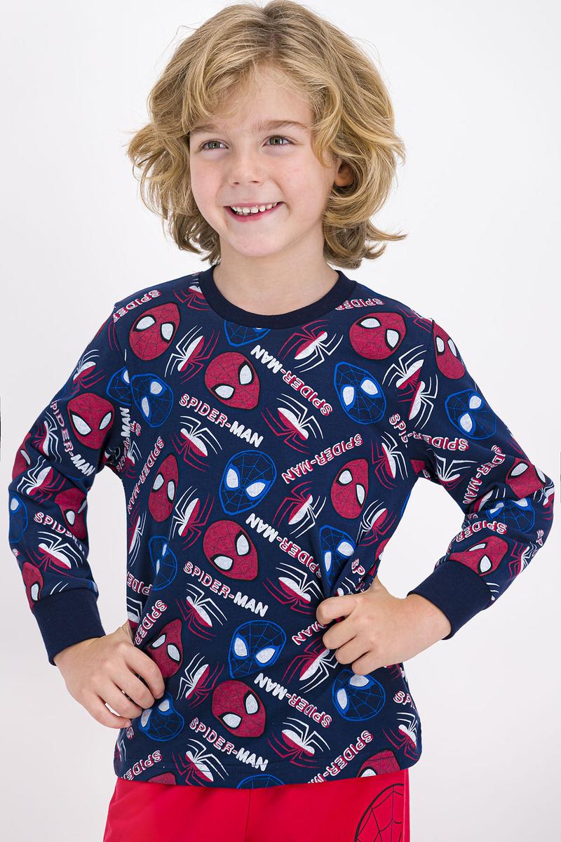 Spider Man - Spider Man Lisanslı Lacivert Erkek Çocuk Pijama Takımı (1)