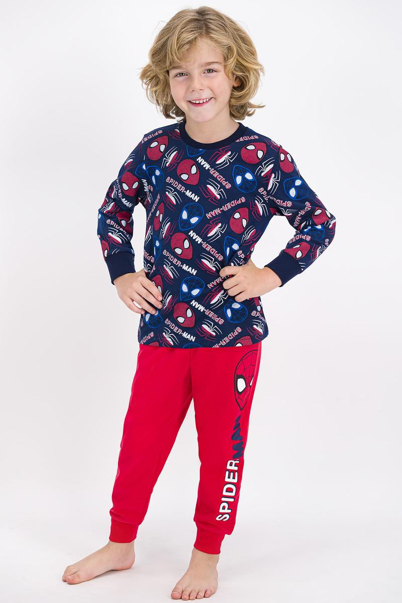 Spider Man - Spider Man Lisanslı Lacivert Erkek Çocuk Pijama Takımı