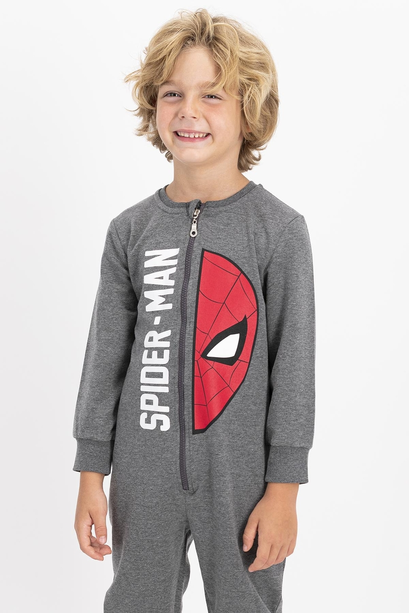 Spider Man - Spiderman Lisanslı Açıkmelanj Erkek Çocuk Tulum (1)