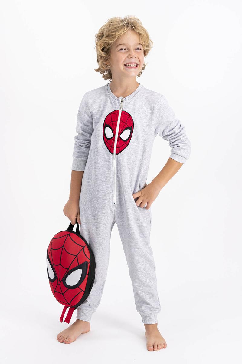 Spider Man - Spiderman Lisanslı Karamelanj Erkek Çocuk Tulum