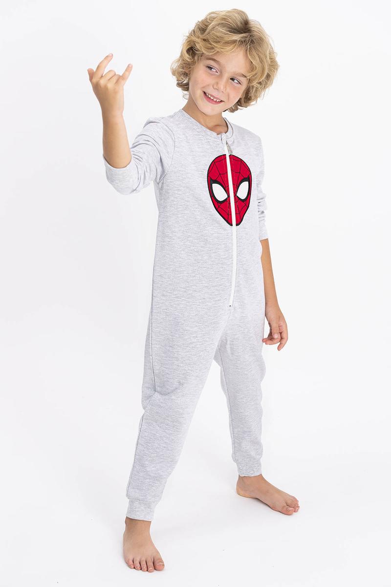 Spider Man - Spiderman Lisanslı Karamelanj Erkek Çocuk Tulum (1)