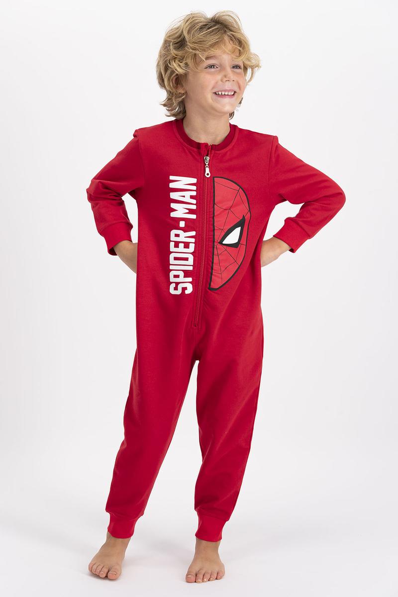 Spider Man - Spiderman Lisanslı Kırmızı Erkek Çocuk Tulum