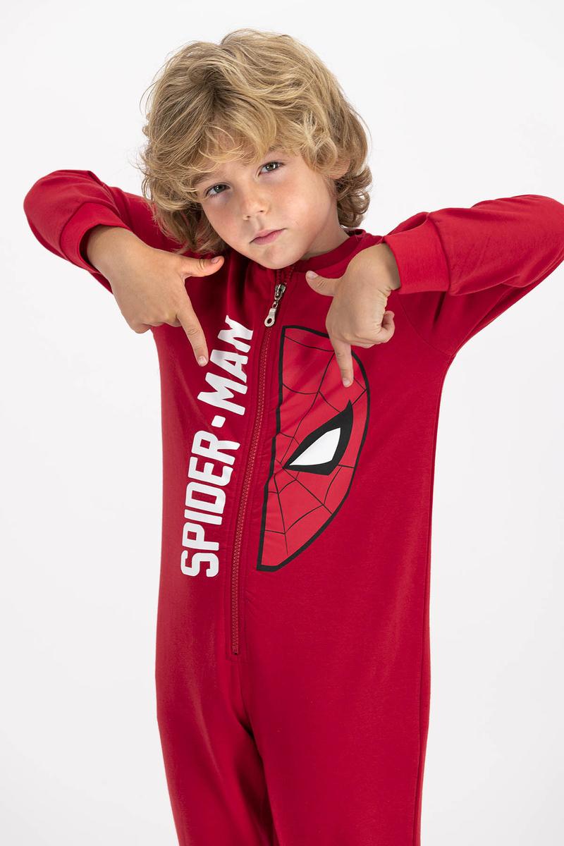 Spider Man - Spiderman Lisanslı Kırmızı Erkek Çocuk Tulum (1)