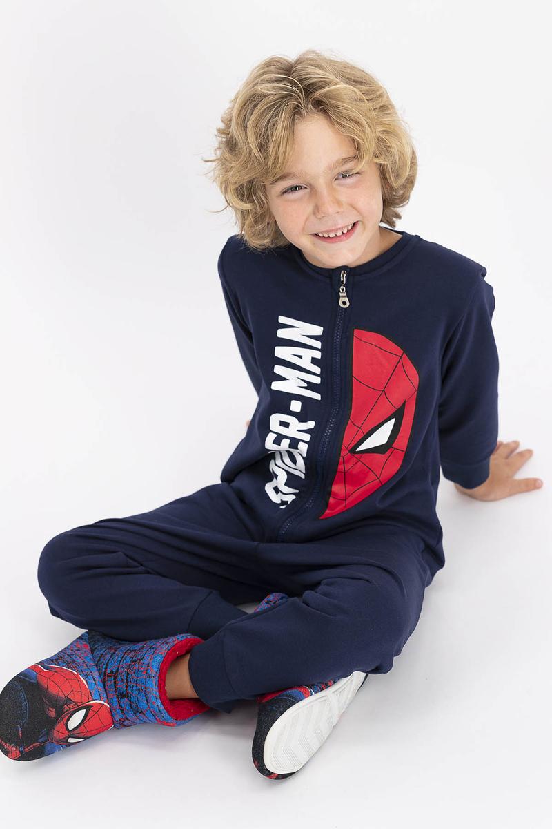 Spider Man - Spiderman Lisanslı Lacivert Erkek Çocuk Tulum