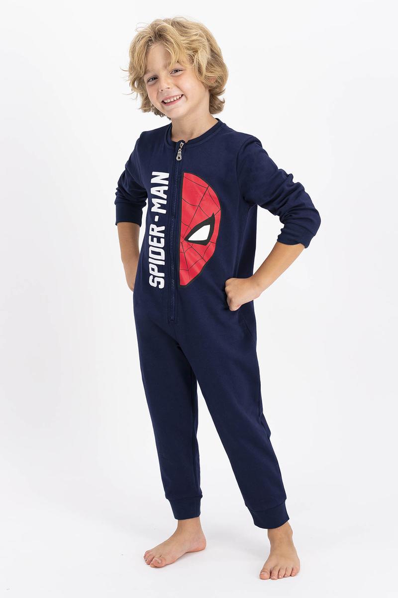 Spider Man - Spiderman Lisanslı Lacivert Erkek Çocuk Tulum (1)