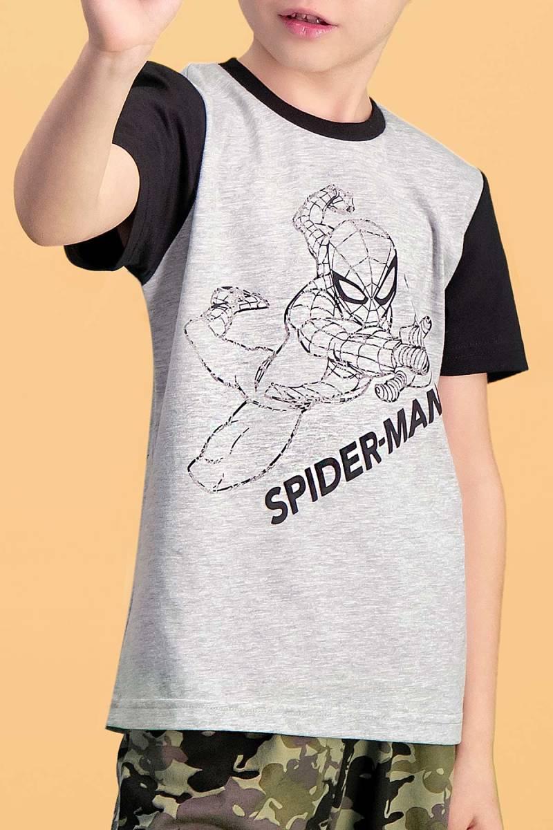 Spider Man - Spider Man Lisanslı Grimelanj Erkek Çocuk Bermuda Takım (1)