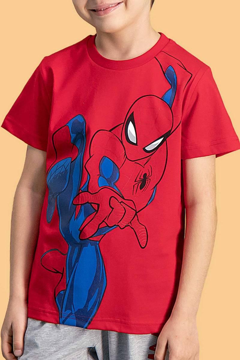 Spider Man - Spider Man Lisanslı Kırmızı Erkek Çocuk Kapri Takım (1)