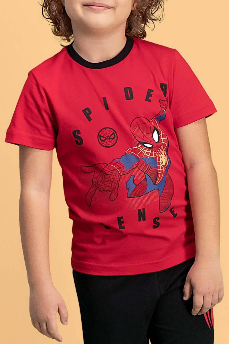 Spider Man - Spider Man Lisanslı Kırmızı Erkek Çocuk Pijama Takımı (1)